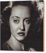 Bette Davis Vintage Hollywood Actress Wood Print