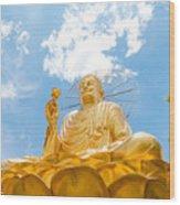 Big Golden Buddha Wood Print