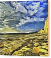 Birling Gap And Seven Sisters Art Wood Print