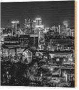 Birmingham Alabama Evening Skyline Wood Print