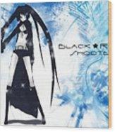 Black Rock Shooter Wood Print