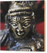 Buddha Sculpture Wood Print