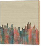 Cambridge England Skyline Wood Print