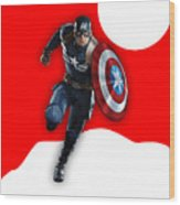 Captain America Collection Wood Print