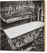 5 Cent Bath Wood Print