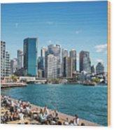 central sydney CBD  area skyline and circular quay in australia Wood Print