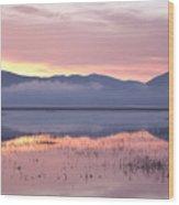 Cerknica Lake At Dawn Wood Print