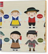 Children Of The Word Wood Print