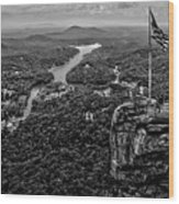 Chimney Rock At Lake Lure Wood Print