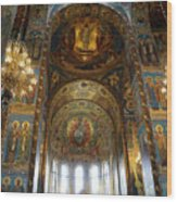 Church Of The Savior On Spilled Blood  Wood Print
