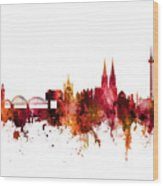 Cologne Germany Skyline Wood Print