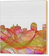 Colorado Springs Colorado Skyline Wood Print