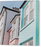 Colorful Houses Wood Print