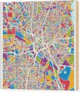 Dallas Texas City Map Wood Print