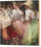 Dancers In Motion  Wood Print