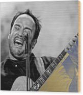 Dave Matthews Collection Wood Print