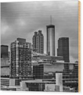 Downtown Atlanta, Georgia Usa Skyline Wood Print
