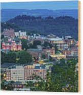 Downtown Morgantown And West Virginia University Wood Print