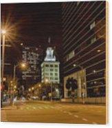 Downtown Tampa Florida Skyline At Night Wood Print