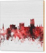 Durham England Skyline Cityscape Wood Print