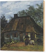 Farmhouse In Nuenen Wood Print