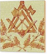 Freemason Symbolism Wood Print