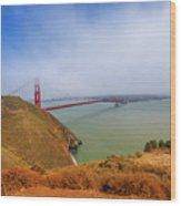 Golden Gate Bridge Vista Point Wood Print