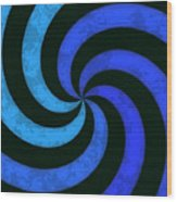 Grunge Swirl Wood Print