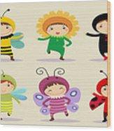 Happy Children  Wood Print