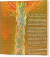 Hebrew Prayer- Shema Israel Wood Print