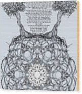 Hebrew Prayer- Toda- Thanks To The Lord Wood Print