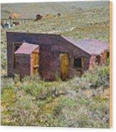 Homestead, Bodie Ghost Town Wood Print