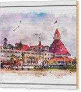 Hotel Del Coronado Wood Print
