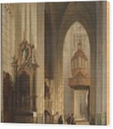 Interior View Of Namur Cathedral Wood Print