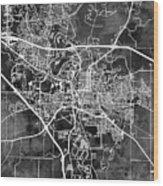 Iowa City Map Wood Print