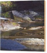 Waterfall Swirl Wood Print