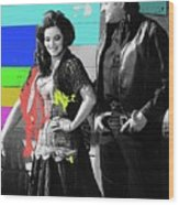 June Carter Cash Johnny Cash In Costume Old Tucson Az 1971-2008 Wood Print