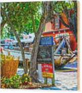 Key West Florida The Conch Republic Wood Print