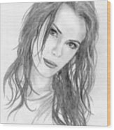 Miss Beckinsale  Wood Print