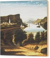 Lake George And The Village Of Caldwell Wood Print