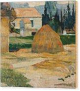 Landscape Near Arles Wood Print
