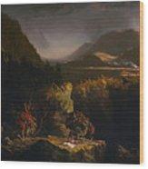 Landscape With Figures Wood Print
