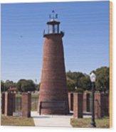 Lighthouse On Lake Toho At Kissimmee In Florida Wood Print