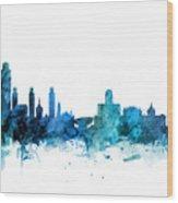 Lincoln Nebraska Skyline Wood Print