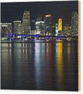 Miami Downtown Skyline Wood Print