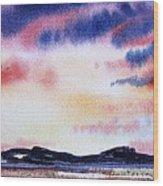 Montana Landscape Wood Print