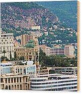 Monte Carlo Cityscape Wood Print