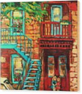 Montreal Paintings Wood Print