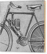 Motorcycle, 1895 Wood Print