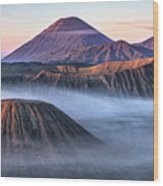 Mount Bromo - Java Wood Print